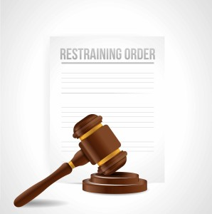 restraining order documents. illustration design